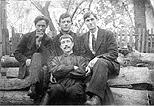 Григорий Зайцев с товарищами
