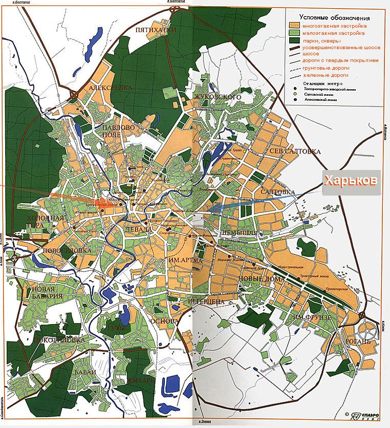 Общая карта города